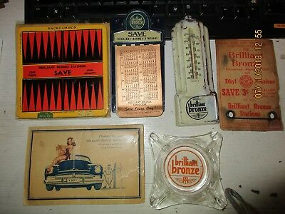 LOT Brilliant Bronze Gas Oil Sewing Kit 1941 Calender on Tablet Mini Clipboard+