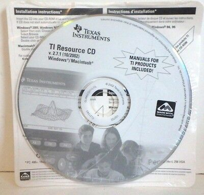 Texas Instruments TI Resource CD Version 2.7.1 include manuals for TI Calculator