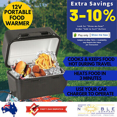 12V Car Portable Food Warmer Travel Stove 12 Volt Electric Camping Cooker Lunch