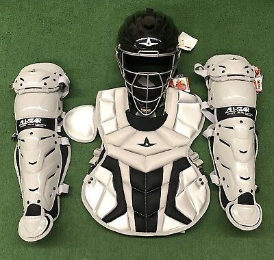 All Star System 7 Axis Youth 10-12 Catchers Gear Set - Silver Black