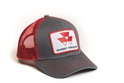 Massey Ferguson Tractor Grey Red Mesh Hat - Cap Gift Fits Most
