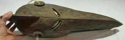 Vintage Authentic Hand Carved Baga Crocodile Face Mask.
