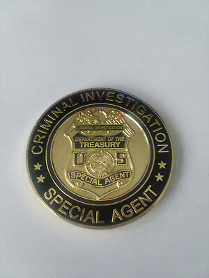 IRS criminal investigation special agent challenge coin