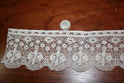 Miniature Dollhouse 2 Yards Pretty Vintage Lace 4 Curtains Canopy Dust Ruffle +