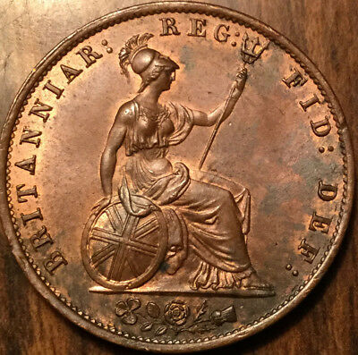 1855 UK GB GREAT BRITAIN VICTORIA HALF PENNY - Uncirculated
