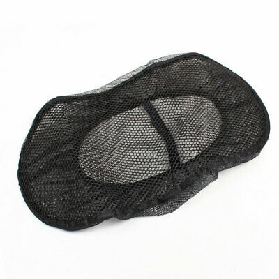 Black Mesh Tertolon Stuff Heat Insulation Motorbike Seat Cover Cushion