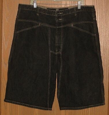 Mens Vintage Marithe Francois Girbaud Faded Black Jeans Shorts Size 40 !! Nice !