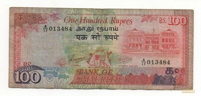 Mauritius 100 Rupees 1986 Pick 38 Look Scans