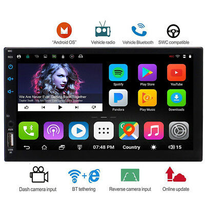 In Dash Double 2 DIN Android 6.0 Car GPS Stereo Radio Navi Bluetooth /USB/WiFi