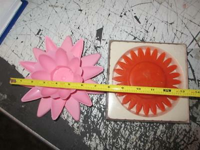 2 items total -Floating pool flower pink orange SUN CANDLE floats in spa jacuzzi