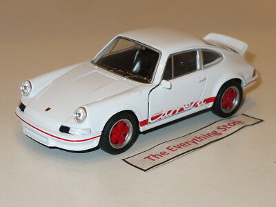 Welly 1973 Porsche 911 Carrera Rs 4.5 Inches Long White Free Usa Ship