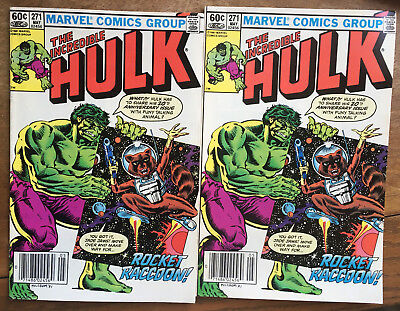 The Incredible Hulk #271 (1982) Marvel 1st Official Appearance of Rocket Racoon