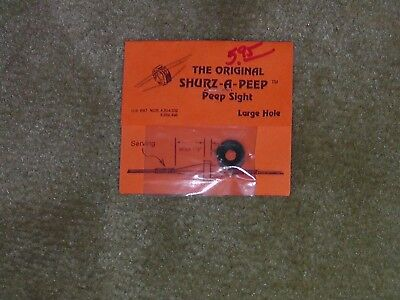 Archery Bow String Peep Sight by Shurz-A-Peep Large hole Lot of 1