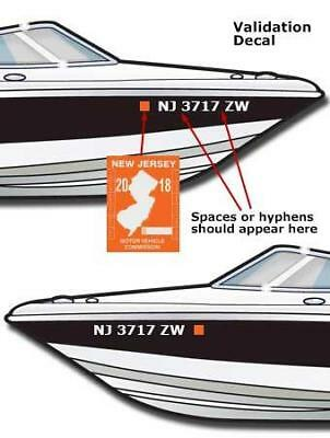 "Boat Registration Numbers 2"" X 20"" (1 Set) Lettering Decals Vinyl Pwc Lettering"