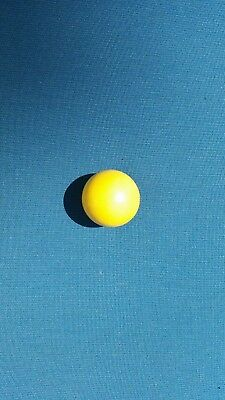 2- Pallino (Yellow) Balls-Official Solid Wood Target Bocce  Ball- Made In Italy