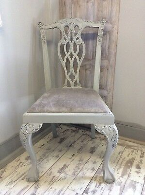 Shabby Chic Chair French Style Bedroom Chair Laura Ashley Dove Grey Villandry