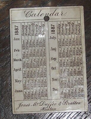 antique '87 wedgwood etruria calendar tile advertise 2 ships britannia & etruria