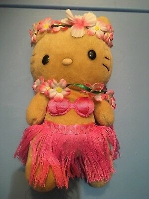 Hello Kitty Plush Toy Hawaii with Lei and Grass Skirt, Sanrio