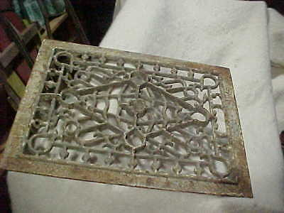Antique Ornate Cast Iron Floor Wall Grate