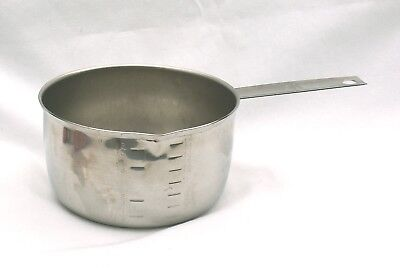 Vintage Foley Script Logo ~ 2 Cup Stainless Steel Measuring Cup