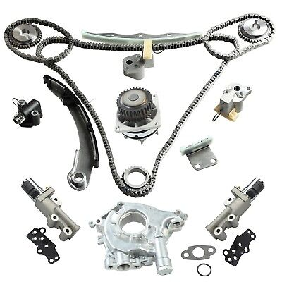 For Nissan Infiniti 3.5 Timing Chain Kit Water Oil Pump VVT Control Solenoid Set