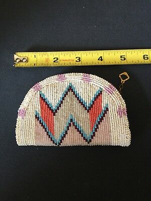 Pair Of Vintage Native American Beaded Coin Purses