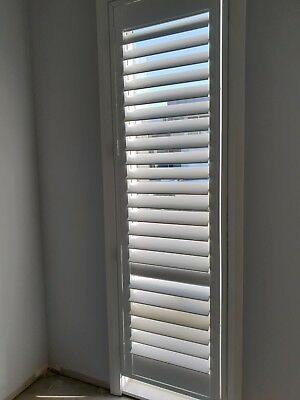 timber plantation shutter 61cm wide x 206cm high white 4 available