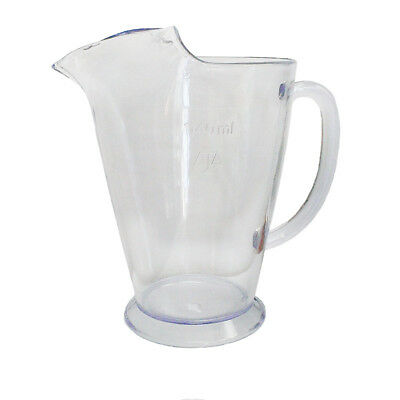 12x Plastic Jug Beer Pitcher 1.1L Clear Water Soft Drink Soda Restaurant Cafe