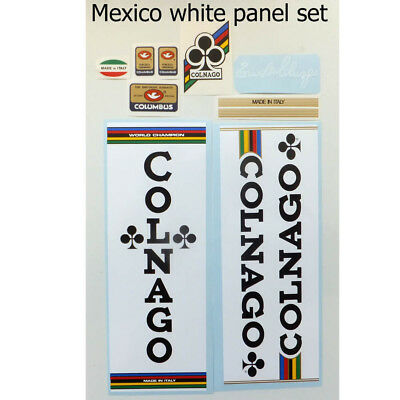 COLNAGO NUOVO MEXICO SUPER white panel decal ON CHROME FOIL free shipping
