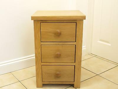 One Solid Light Oak  Bedside Cabinet / Lamp Table Very Good Condition