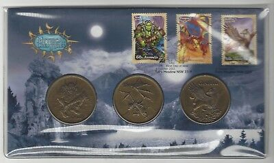 PNC - FDC - Mythical Creatures Troll Drag Griff - Coin & Stamp Set - 04/10/2011