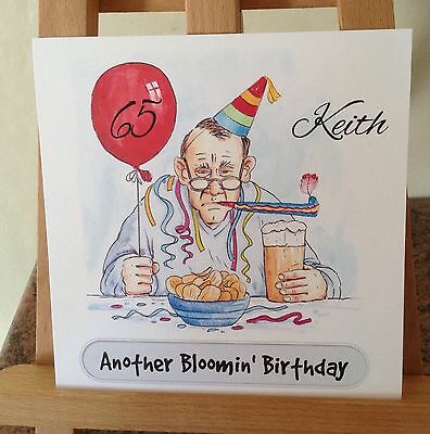 Handmade Personalised Grumpy Old Man Gents Birthday Card