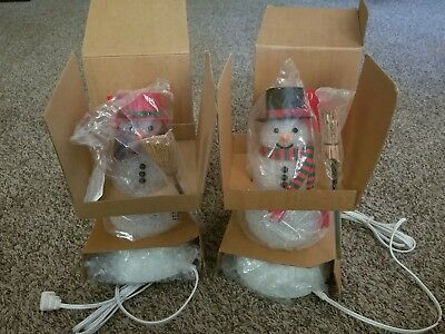 Avon Chilly Sam And Chilly Samantha Snowmen Change Colors  Original Boxes New