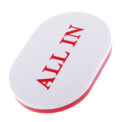 ALL IN Button Acrylic Oval PokerStars Dealer for Poker Cards White and Red
