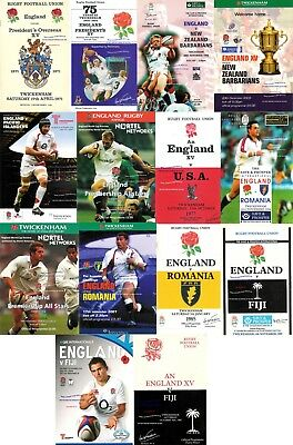 ENGLAND v FIJI JAPAN ROMANIA UNITED STATES & OTHERS RUGBY PROGRAMMES