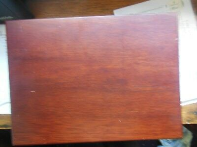 Wooden empty cutlery box  lined 11ins x 15 ins x 3 ins