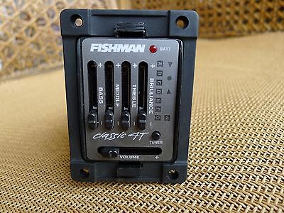 NEW Fishman Classic 4T Acoustic Guitar Preamp Pre-Amplifier Pickup for Fender ft
