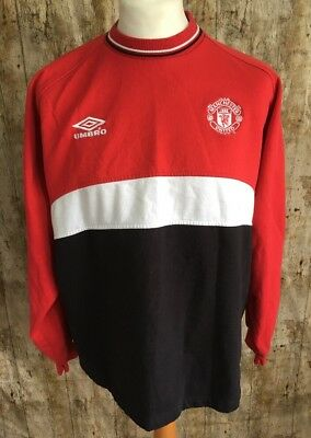 2e70c6767 Vintage Manchester United UMBRO Training Jumper Shirt Very Rare 90s Size XXL