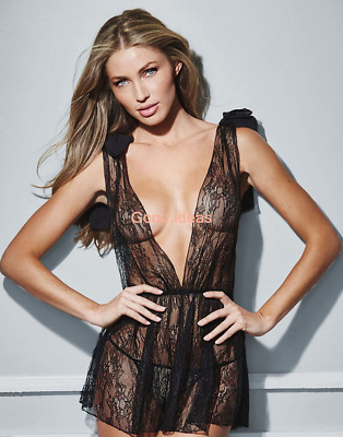 Sexy Lingerie Womens Lace Bowknot Shoulder Sleepwear Dress Nightwear Plus Size