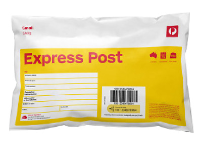 2x 500g EXPRESS Satchel EXPRESS POSTED! Australia Parcel Post Prepaid Tracking