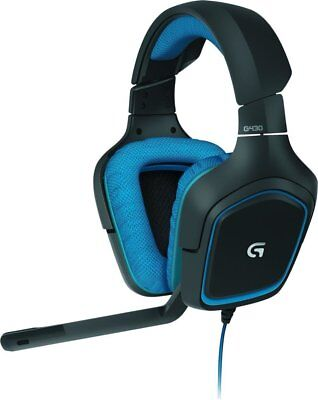 Logitech G430 Surround Sound Gaming Headset Schwarz/Blau 981-000537