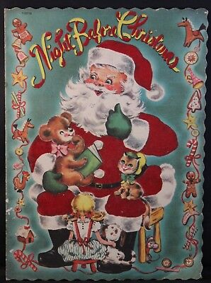 REDUCED 1952 Night Before Christmas Flocked Book