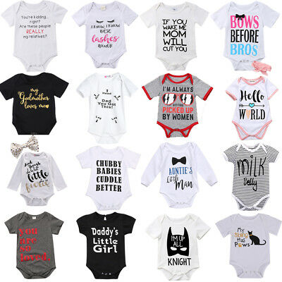 Newborn Infant Kids Baby Girl Boy Romper Bodysuit Jumpsuit Playsuit Outfits Set