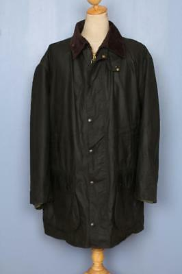 Mens BARBOUR Border Waxed Jacket Green Size 52