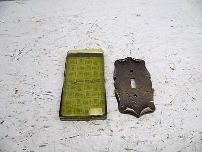 AMEROCK CARRIAGE HOUSE  switch cover plate Brass NIB c-9081-ae