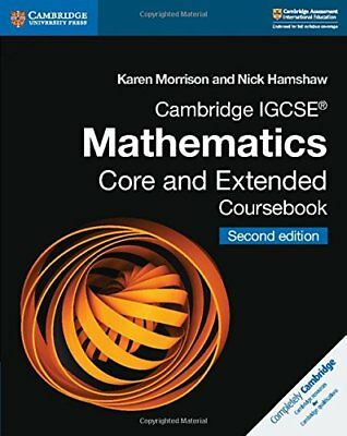 Cambridge IGCSE Mathematics Core and Extended Coursebook (Ca... by Hamshaw, Nick
