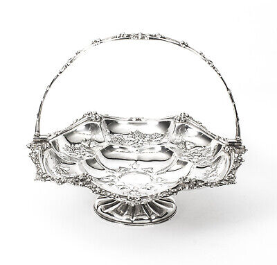 Antique Victorian Silver Plated Fruit Basket John Figg London c.1860