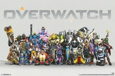 OVERWATCH - ANNIVERSARY CHARACTER LINEUP POSTER - 22x34 VIDEO GAME 16689