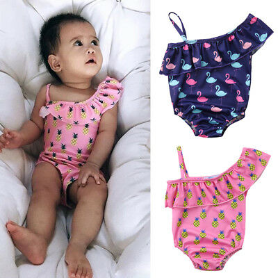 Flamingo & Pineapple Children Toddler Girls One Pieces Swimsuit Bathing Suit USA