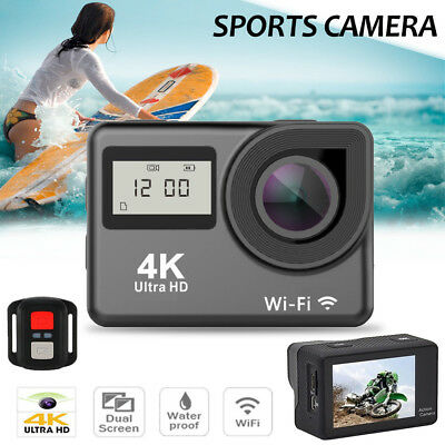 4K Dual Screen Wifi 1080P Waterproof Sports Action Camera DVR Cam Camcorder LD